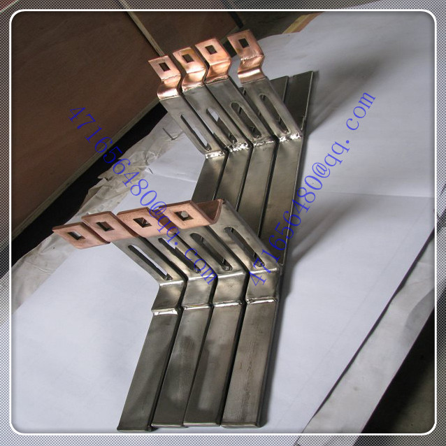 Titanium clad copper composite flat welding pieces