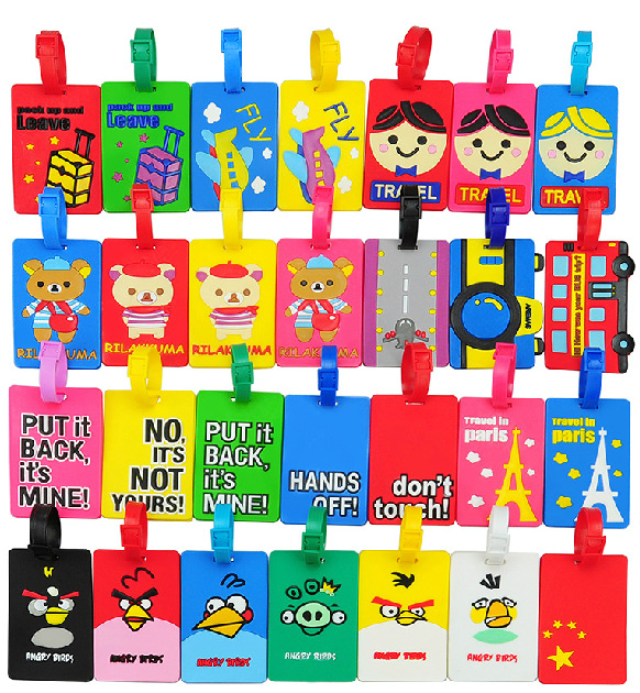 Soft PVC Cartoon Luggage Tags
