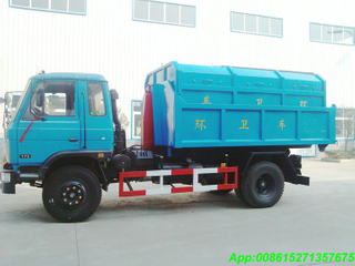 Hook lift truck with 11~12M3 Garbage Bin LHD /RHD