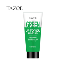 Tazol temporary hair color gel green