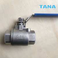 ​2 Piece Thread Ball Valve