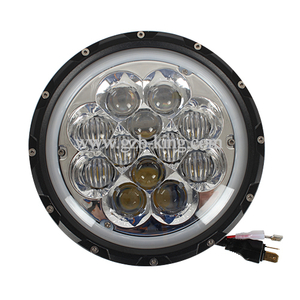 New arrival 7 inch 60 Watts super bright Osram 5D Jeep LED driving light with halo ring