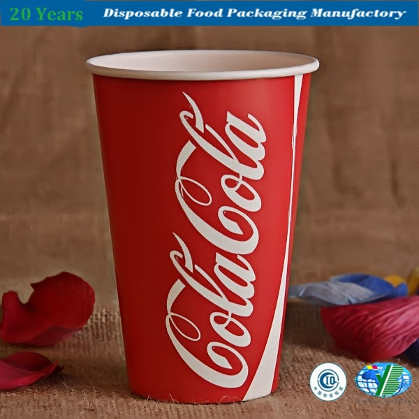 Single Wall Disposable Cold Paper Cup