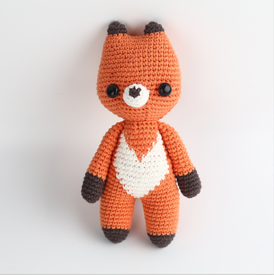 Hand Knitted fox
