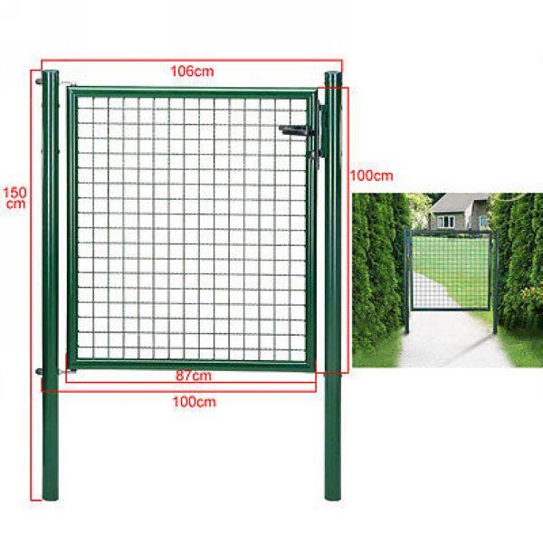 100 x 100cm Powder Coated Welded Wire Walkway Door