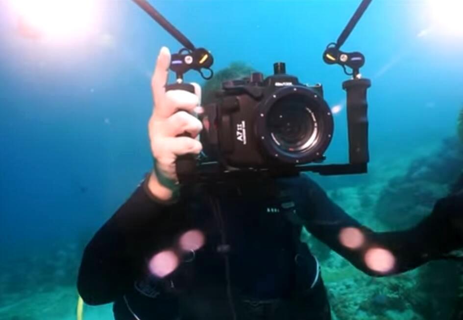 A7II underwater housing test