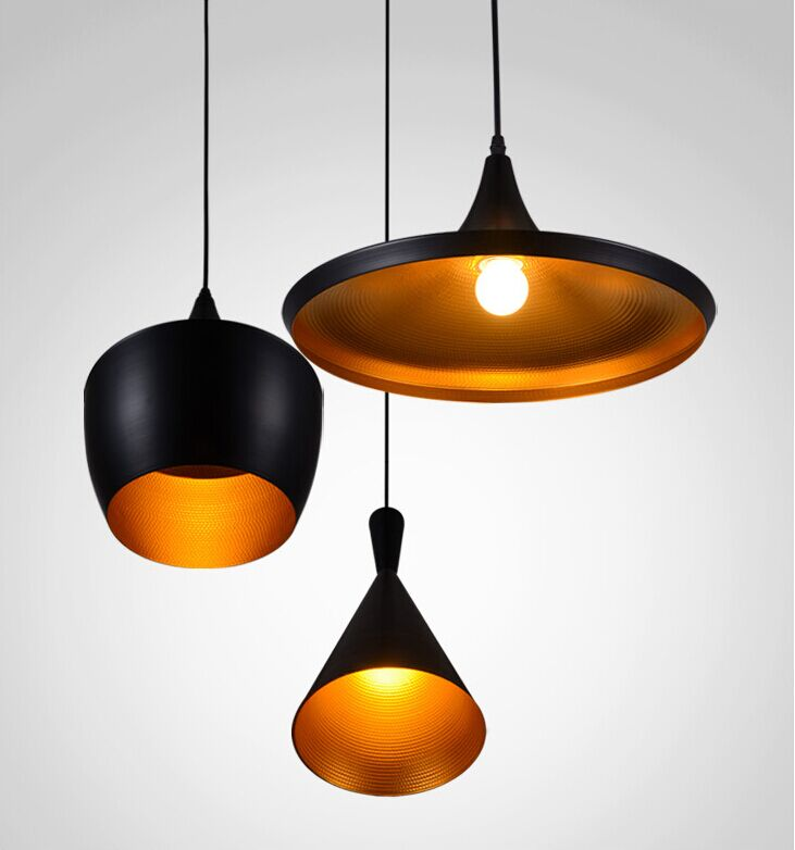 Modern Tom Dixon Beat Pendant Light Aluminum Suspension Lighting