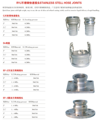 RYJ stainless steel quick coupling