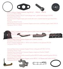 Foton Cummins Engine genuine parts price list 3