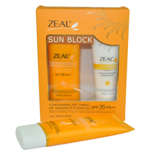 Zeal Sun Block Cream Kit SPF60 PA+++