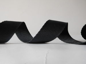 38mm black and grey polyester webbing for garment accessories