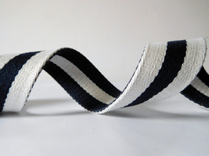 white&black polyester cotton webbing for belts