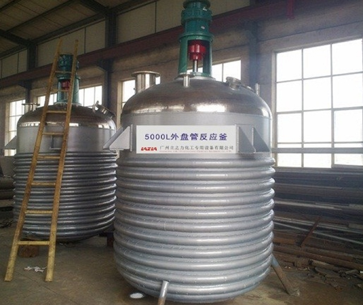 Outside Coil Chemical Reactor