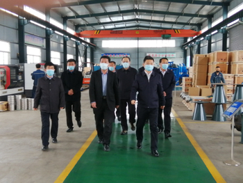 Zong Daquan, Chairman of Tengzhou CPPCC, visited Shandong Shenxin Group for investigation and guidance