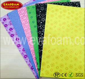 Glitter Printed EVA Foam Sheets