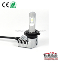 1:1 halogen bulb size P20 40W 5200lm universal H7 car led headlight with built-in fan( 100% suitable for all cars)