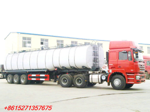 DTA Insulated bitumen tanker trailer semitrailer 50cbm with PUMP and SHACMAN tractor