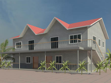 Light Steel Villa  420 square meter  (Luxury Steel Villa House)