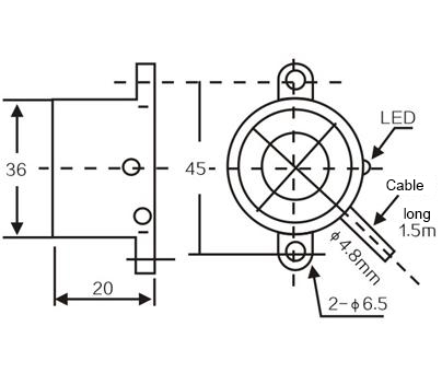 LM36 outer diameter 36mm cylinder inductive proximity switch