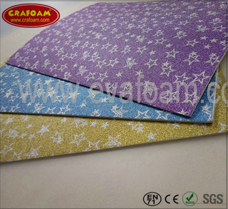Glitter Film EVA Foam Sheets (Star)