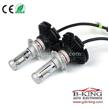 Fanless 6000lm 7S H7 ZES Chip Car LED Headlight Bulb 3000K 6500K 8000K