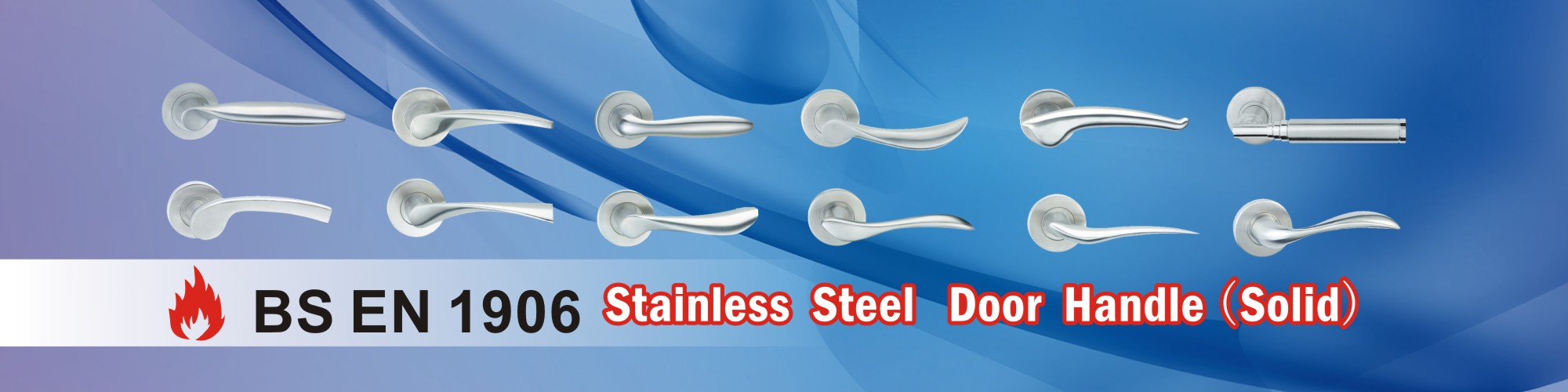 Stainless Steel Door Handle(Solid)-D&D door handle hardware manufacturer