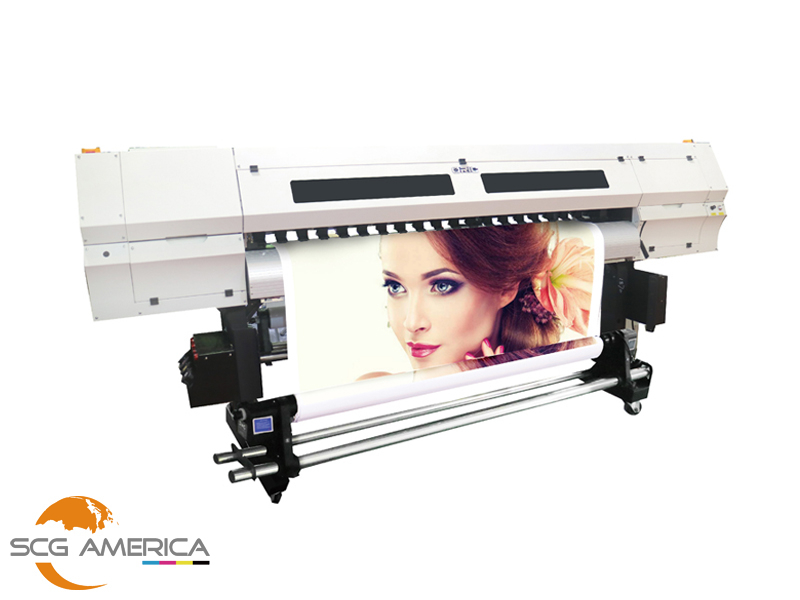 Oric 1 8m UV Roll to Roll Printer with 8 GH2220 print heads for Soft