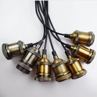 Industrial Loft Edison Glass Bulb Pendant Lamp socket Aluminum Lamp Holder