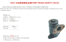 GAV-50 pump pipeline safety valve