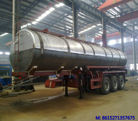 Aluminium acid tank trailer for transport Nitric acid