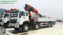 Lorry truck mounted crane 57.8mT 8x4 Sino truck Palfinger SPK62002MH Knuckle boom Euro 4 ,5