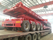 Hydraulic-neck low-bed trailer