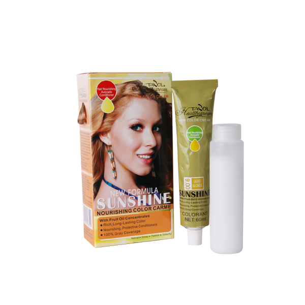 SUNSHINE 9.00 Light Brown Hair Color Cream