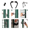 100x125cm Home yard metal fence gate green euro garden gate with safety lock