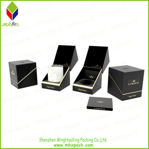 Foldable Paper Gift Candle Packing Box