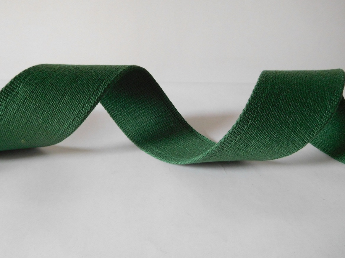 50mm green polyester cotton webbing for belts