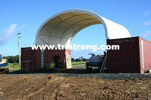 8m Wide Container Shelter, Canopy, Tent, Container Cover (TSU-2620C/2640C)