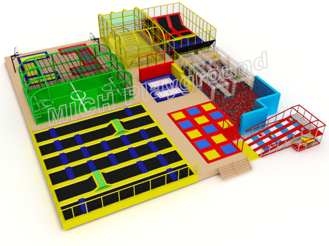 customized indoor bounce trampoline park 7124A