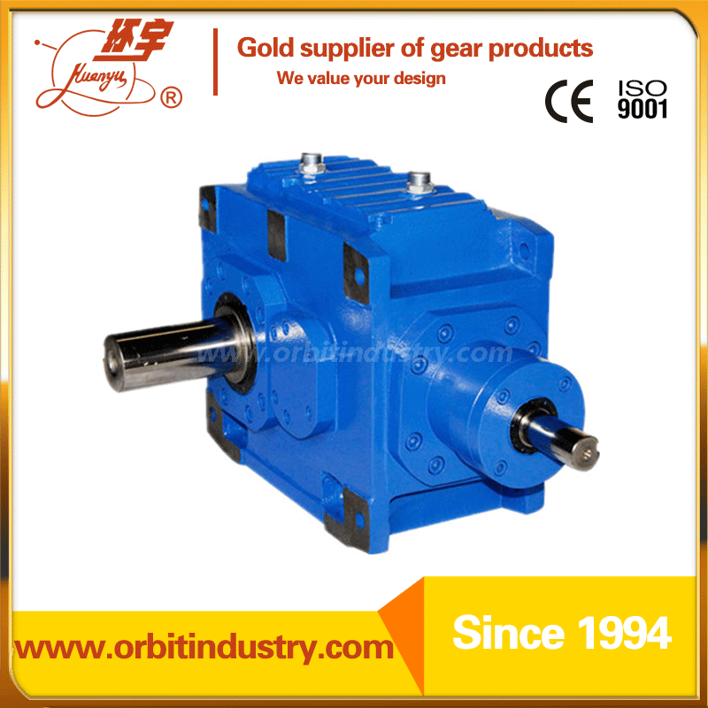 Right Angle Winch : Right angle helical bevel industrial gearbox from china