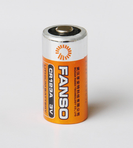 Cylindrical Li-MnO2 battery CR123A 3V 1500mAh