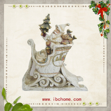White Santa claus mounts,resin christmas tree ornaments