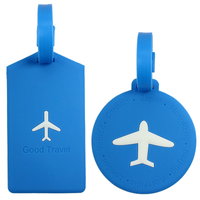 Airplane Soft PVC Luggage Tags