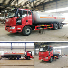 25000 liter faw new model J6 6x4 mobile lpg dispenser truck for sale