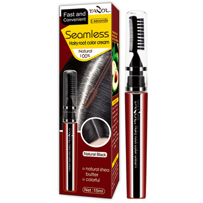 100% Grey Hair Cover Mascara Hair Dye with Dark Brown