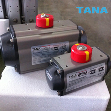 AT series rotary pneumatic actuator with limit switch box and solenoid valve