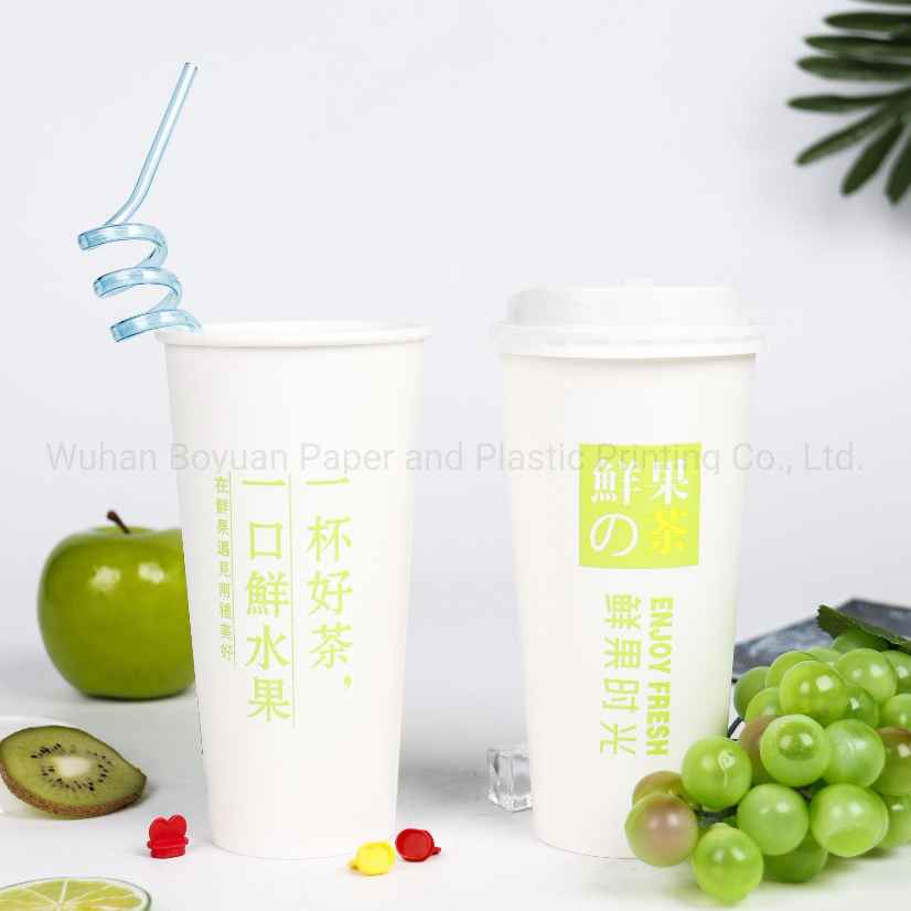 Disposable Cold Paper Cup with Double PE Coating
