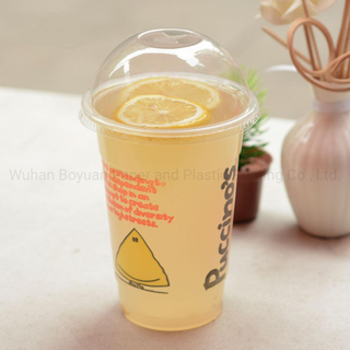 Disposable Plastic PET Cups for Iced Juices Coffee Sodas Colas