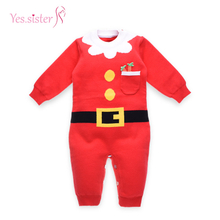 Lovely Baby Boy Knit Christmas Sweater Romper