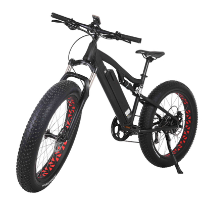 26 inch full suspension frame fat tire electric bike