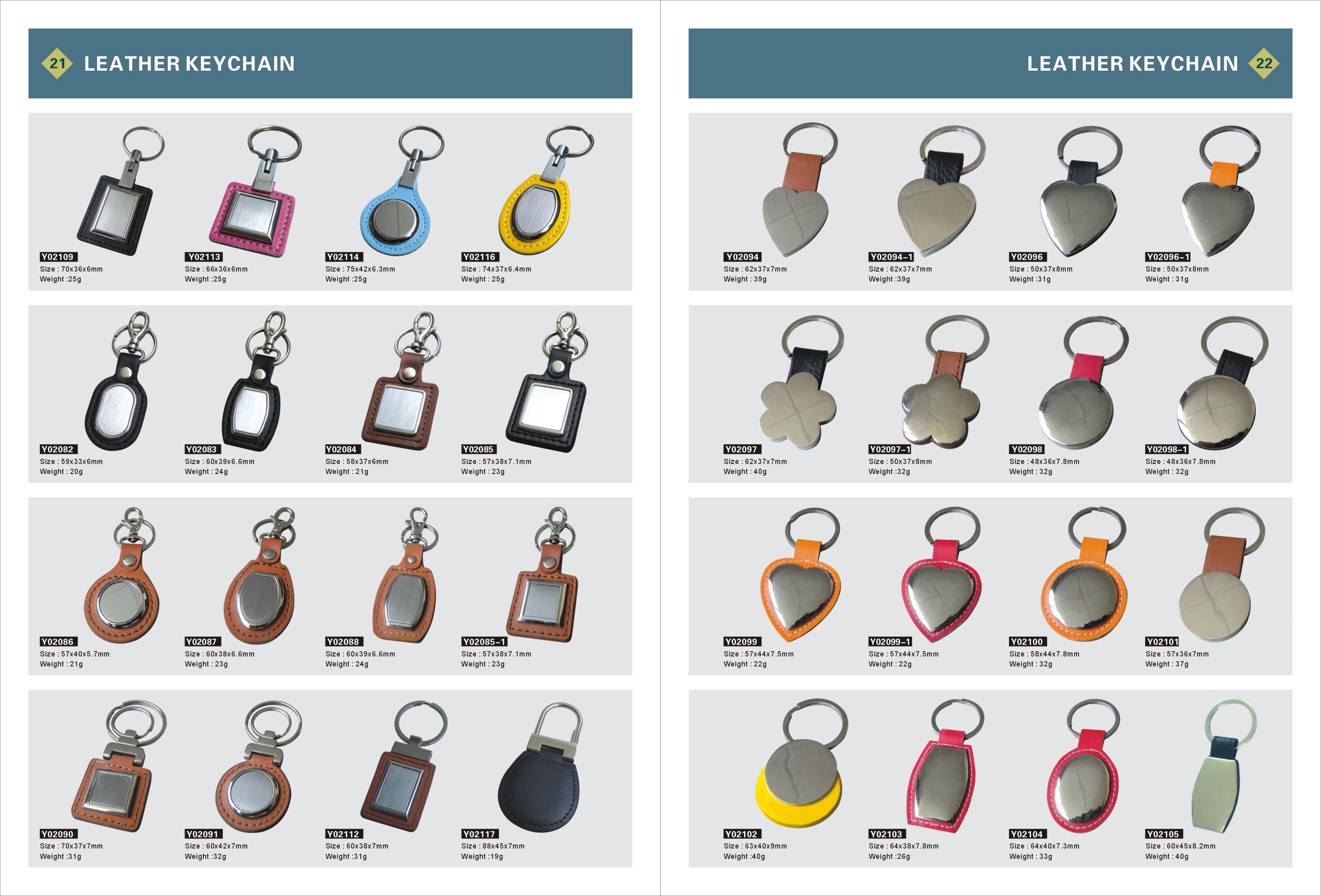 Blank Leather Key Fobs